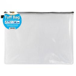 Cheap Stationery Supply of Tiger Tuff Bag Polypropylene A3 500 Micron Clear With Assorted Colour Zips Office Statationery