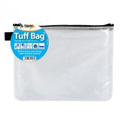Cheap Stationery Supply of Tiger Tuff Bag Polypropylene A5 500 Micron Clear With Assorted Colour Zips Office Statationery
