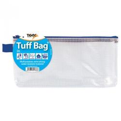 Cheap Stationery Supply of Tiger Tuff Bag Polypropylene Dl 500 Micron Clear With Assorted Colour Zips Office Statationery