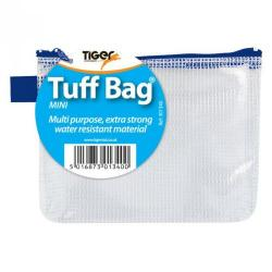 Cheap Stationery Supply of Tiger Tuff Bag Polypropylene Mini 500 Micron Clear With Assorted Colour Zips Office Statationery