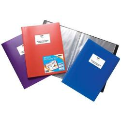 Cheap Stationery Supply of Tiger A4 Flexi Display Book 60 Pocket Assorted Colours Office Statationery