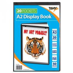 Cheap Stationery Supply of Tiger A2 Presentation Display Book 20 Pocket Black Office Statationery
