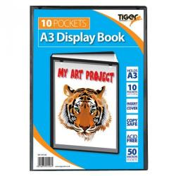 Cheap Stationery Supply of Tiger A3 Presentation Display Book 10 Pocket Black Office Statationery