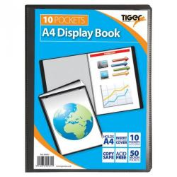 Cheap Stationery Supply of Tiger A4 Presentation Display Book 10 Pocket Black Office Statationery
