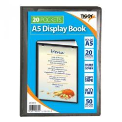 Cheap Stationery Supply of Tiger A5 Presentation Display Book 20 Pocket Black Office Statationery