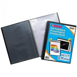 Cheap Stationery Supply of Tiger A4 Fold Back Display Book 12 Pocket Black Office Statationery