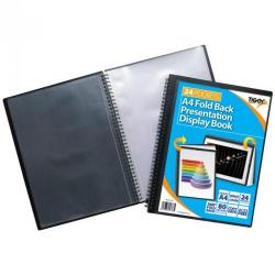 Cheap Stationery Supply of Tiger A4 Fold Back Display Book 24 Pocket Black Office Statationery
