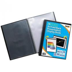 Cheap Stationery Supply of Tiger A4 Fold Back Display Book 36 Pocket Black Office Statationery