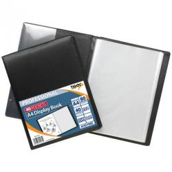 Cheap Stationery Supply of Tiger A4 Professional Display Book 40 Pocket Black Office Statationery