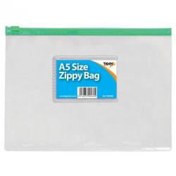 Cheap Stationery Supply of Tiger Zippy Bag Polypropylene A5 180 Micron Clear With Assorted Colour Zips Office Statationery