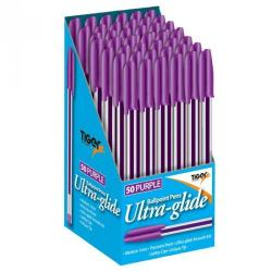 Cheap Stationery Supply of Tiger Ballpoint Pen Purple Pack 50 Office Statationery