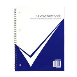 Cheap Stationery Supply of Nuco A4 Wiro Laminated Notebook PK5 Office Statationery