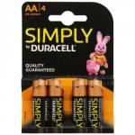 Duracell Aa Simply Batteries Pack of 4