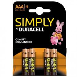 Cheap Stationery Supply of Duracell AAA SIMPLY Batteries Pack 4 46960AA Office Statationery