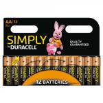 Duracell Aa Simply Batteries Pack of 12