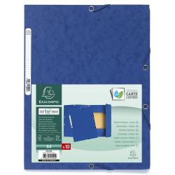 Cheap Stationery Supply of Europa 3 Flap Folders 24x32cm Bl Pack of 10 Office Statationery