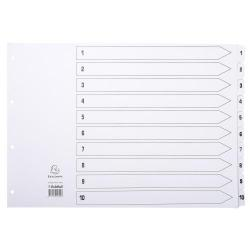 Cheap Stationery Supply of Exacompta Index 160gsm A3 1-10 Wh Office Statationery