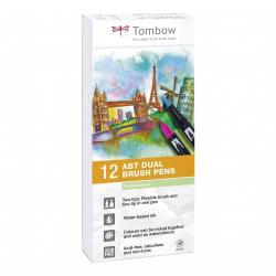 Cheap Stationery Supply of Tombow Abt Dual Brush Pen 2 Tips Pastel Colours Pack of 12 Office Statationery