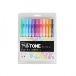 Cheap Stationery Supply of Tombow Dual Tip Twintone Pastel Pens Pack of 12 Office Statationery