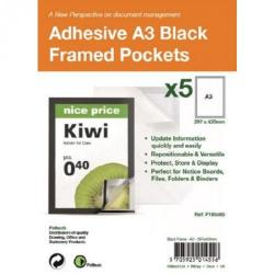 Cheap Stationery Supply of A3 Adhesive Display Frm Mag Pack of 5 Bk Office Statationery