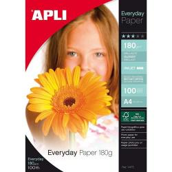 Cheap Stationery Supply of Apli Photo Paper A4 180gsm Glossy White Pack 100 Office Statationery