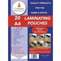 Cheap Stationery Supply of Laminating Pouch A4 150mic Pack of 20 Office Statationery