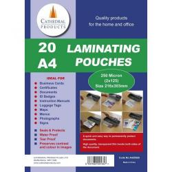 Cheap Stationery Supply of Laminating Pouch A4 250mic Pack of 20 Office Statationery