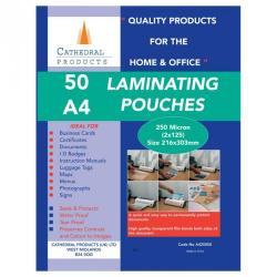Cheap Stationery Supply of Laminating Pouch A4 250mic Pack of 50 Office Statationery