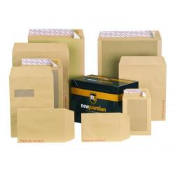 Cheap Stationery Supply of New Guardian Board Backed Envelope C4 Peel And Seal Window Power-tac 130gsm Manilla Pack 125 Office Statationery