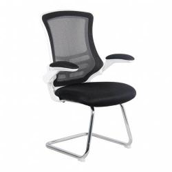 Cheap Stationery Supply of Luna Wh Shell Chrm Cantilevr Chair Bk Office Statationery
