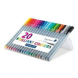 Cheap Stationery Supply of Staedtler Triplus Fineliner Assorted Pack of 20 Office Statationery