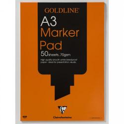 Cheap Stationery Supply of Goldline Bleedproof Marker Pad A3 Gpb1a3z Office Statationery