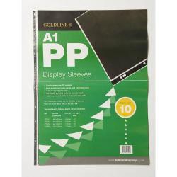Cheap Stationery Supply of Goldline Polypropylene Display Sleeves A1 9 Holes Pdsa1z Pack 10 Office Statationery