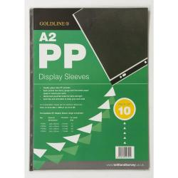 Cheap Stationery Supply of Goldline Polypropylene Display Sleeves A2 6 Holes Pdsa2z Pack 10 Office Statationery