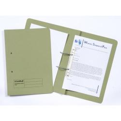 Cheap Stationery Supply of Guildhall Transfer Spring Files 38mm Foolscap Green Pack of 50 Office Statationery