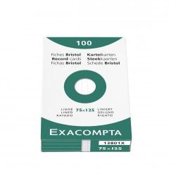 Cheap Stationery Supply of Exacompta Record Cards Lined 75x125mm White 13801x Pack of 125 Office Statationery