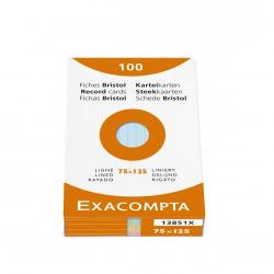 Cheap Stationery Supply of Exacompta Record Cards Lined 75x125mm As Office Statationery