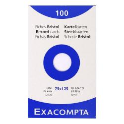 Cheap Stationery Supply of Exacompta Record Cards Plain 75x125mm White 13301e Pack of 100 Office Statationery