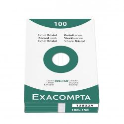 Cheap Stationery Supply of Exacompta Record Cards Lined 100x150mm White 13802X (PK100) 67078EX Office Statationery