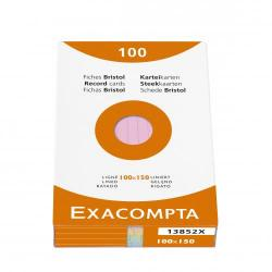 Cheap Stationery Supply of Exacompta Record Cards Lined 100x150mm Assorted 13852X (PK100) 67085EX Office Statationery