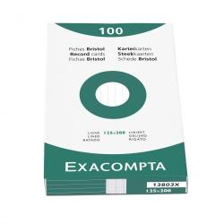 Cheap Stationery Supply of Exacompta Record Cards Lined 125x200mm White 13803X (PK100) 67099EX Office Statationery
