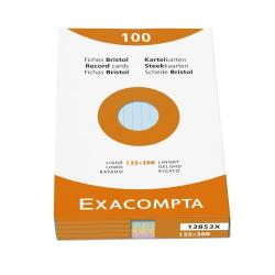 Cheap Stationery Supply of Exacompta Record Cards Lined 125x200mm Assorted 13853X (PK100) 67106EX Office Statationery