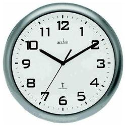 Cheap Stationery Supply of Acctim Cadiz Rc Wall Clock 25.5cm Silver Office Statationery
