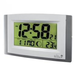 Cheap Stationery Supply of Acctim Stratus Rc Lcd Wall Clock Silver Office Statationery
