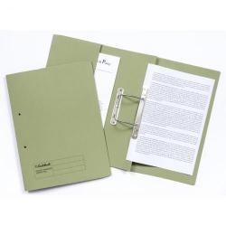 Cheap Stationery Supply of Guildhall Spring Pocket Transfer File Manilla Foolscap 420gsm Green Pack 25 Office Statationery