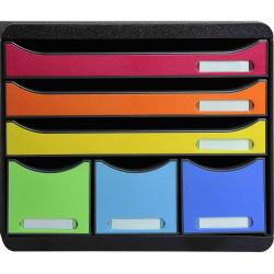 Cheap Stationery Supply of Exacompta Store Box Maxi 6 Drawers Harlequin 69945EX Office Statationery