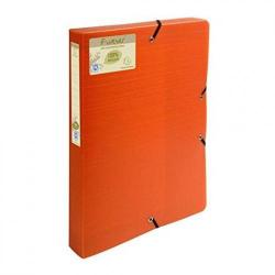 Cheap Stationery Supply of Forever Box File Elastic Closure A4 40mm PP Orange Pack 8 74005EX Office Statationery