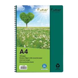 Cheap Stationery Supply of Forever Notebook A4 Green PK5 Office Statationery