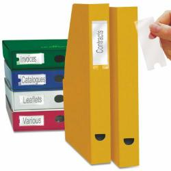 Cheap Stationery Supply of Label Holders and 48 Inserts 25x75mm PK4 Office Statationery