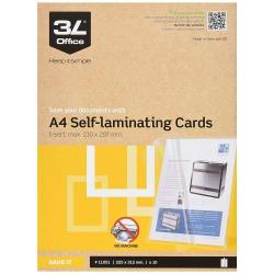 Cheap Stationery Supply of Self Laminating Cards A4 (10 Cards) Office Statationery